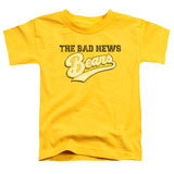 Bad News Bears Logo Toddler T-Shirt Yellow