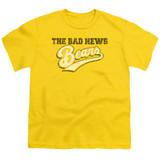 Bad News Bears Logo Youth T-Shirt Yellow
