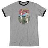 Bad News Bears Vintage Adult Ringer T-Shirt Heather/Black
