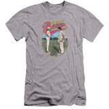 Bad News Bears Vintage Premuim Canvas Adult Slim Fit 30/1 T-Shirt Athletic Heather