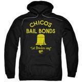 Bad News Bears Chico's Bail Bonds Adult Pullover Hoodie Sweatshirt Black