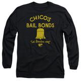 Bad News Bears Chico's Bail Bonds Adult Long Sleeve T-Shirt Black