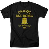 Bad News Bears Chico's Bail Bonds Adult 18/1 T-Shirt Black