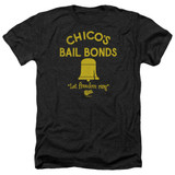 Bad News Bears Chico's Bail Bonds Adult Heather T-Shirt Black