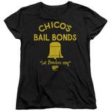 Bad News Bears Chico's Bail Bonds Women's T-Shirt Black