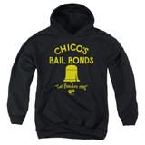 Bad News Bears Chico's Bail Bonds Youth Pullover Hoodie Sweatshirt Black