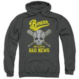 Bad News Bears Always Bad News Adult Pullover Hoodie Sweatshirt Charcoal