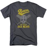 Bad News Bears Always Bad News Adult 18/1 T-Shirt Charcoal