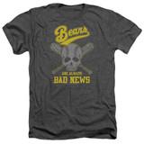 Bad News Bears Always Bad News Adult Heather T-Shirt Charcoal