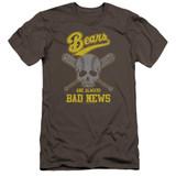 Bad News Bears Always Bad News Premuim Canvas Adult Slim Fit 30/1 T-Shirt Charcoal
