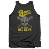 Bad News Bears Always Bad News Adult Tank Top T-Shirt Charcoal