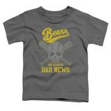 Bad News Bears Always Bad News Toddler T-Shirt Charcoal