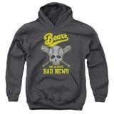 Bad News Bears Always Bad News Youth Pullover Hoodie Sweatshirt Charcoal