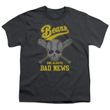 Bad News Bears Always Bad News Youth T-Shirt Charcoal