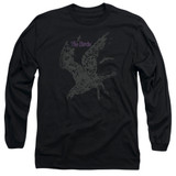 The Birds Poster Adult Long Sleeve T-Shirt Black