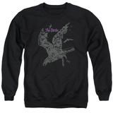 The Birds Poster Adult Crewneck Sweatshirt Black