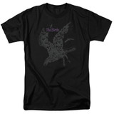 The Birds Poster Adult 18/1 T-Shirt Black