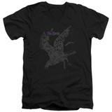 The Birds Poster Adult V-Neck T-Shirt Black