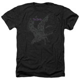 The Birds Poster Adult Heather T-Shirt Black
