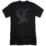 The Birds Poster Premuim Canvas Adult Slim Fit T-Shirt Black