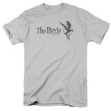 The Birds Distressed Adult 18/1 T-Shirt Silver