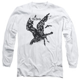 The Birds Title Adult Long Sleeve T-Shirt White