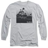 The Birds Evil Adult Long Sleeve T-Shirt Silver