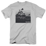 The Birds Evil Adult 18/1 T-Shirt Silver