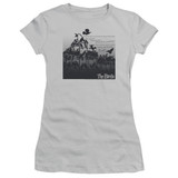 The Birds Evil Junior Women's Sheer T-Shirt Silver
