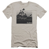 The Birds Evil Premuim Canvas Adult Slim Fit T-Shirt Silver