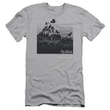 The Birds Evil Adult 30/1 T-Shirt Silver