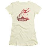 The Birds On A Wire Junior Women's Sheer T-Shirt Cream