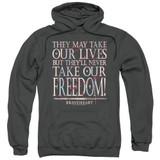 Braveheart Freedom Adult Pullover Hoodie Sweatshirt Charcoal
