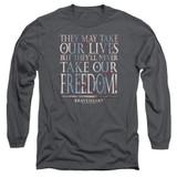 Braveheart Freedom Adult Long Sleeve T-Shirt Charcoal