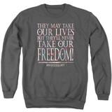 Braveheart Freedom Adult Crewneck Sweatshirt Charcoal
