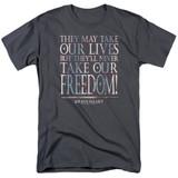 Braveheart Freedom Adult 18/1 T-Shirt Charcoal