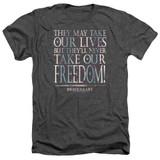 Braveheart Freedom Adult Heather T-Shirt Charcoal