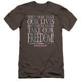 Braveheart Freedom Premium Canvas Adult Slim Fit 30/1 T-Shirt Charcoal