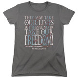 Braveheart Freedom Women's T-Shirt Charcoal