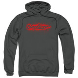 Bloodsport Blood Splatter Adult Pullover Hoodie Sweatshirt Charcoal