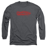 Bloodsport Blood Splatter Adult Long Sleeve T-Shirt Charcoal