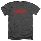 Bloodsport Blood Splatter Adult Heather T-Shirtcharcoal
