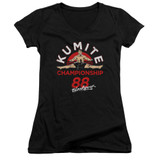 Bloodsport Championship 88 Junior Women's V-Neck T-Shirt Black