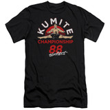 Bloodsport Championship 88 Premium Canvas Adult Slim Fit 30/1 T-Shirt Black