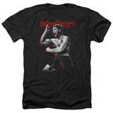 Bloodsport Loud Mouth Adult Heather T-Shirt Black