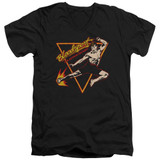 Bloodsport Action Packed Adult V-Neck T-Shirt Black