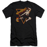 Bloodsport Action Packed Premium Canvas Adult Slim Fit 30/1 T-Shirt Black