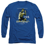 Bloodsport American Ninja Adult Long Sleeve T-Shirt Royal Blue
