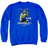 Bloodsport American Ninja Adult Crewneck Sweatshirt Royal Blue