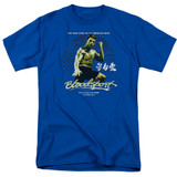 Bloodsport American Ninja Adult 18/1 T-Shirt Royal Blue